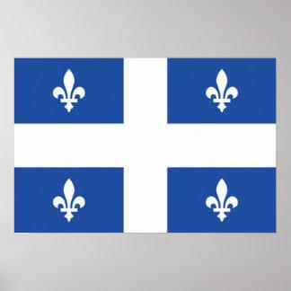 Bandera de Quebec Posters