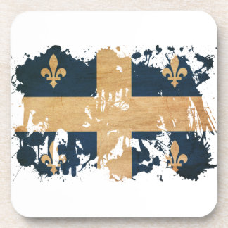 Bandera de Quebec Posavasos De Bebidas