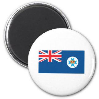 Bandera de Queensland Imán Redondo 5 Cm