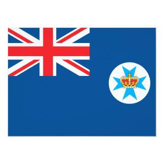 """Bandera de Queensland Invitación 5.5"""" X 7.5"""""""