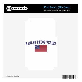 Bandera de Rancho Palos Verdes los E.E.U.U. Calcomanías Para iPod Touch 4G