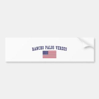 Bandera de Rancho Palos Verdes los E.E.U.U. Pegatina Para Auto