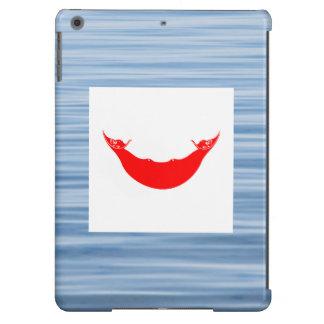 Bandera de Rapanui que flota en el agua Funda Para iPad Air
