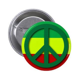 Bandera de Rasta de la paz Pin Redondo 5 Cm