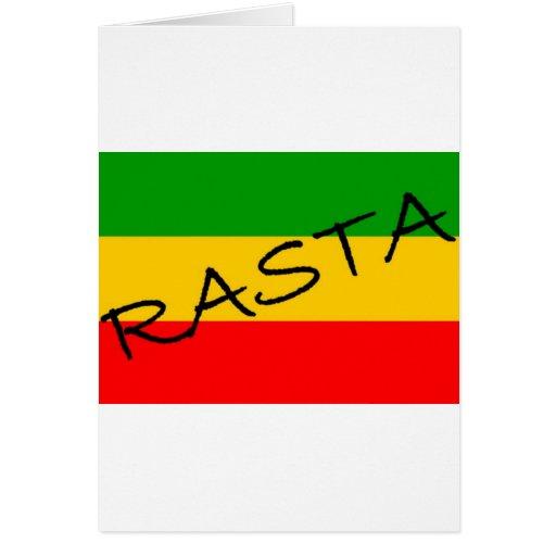 Bandera de Rasta Tarjeta De Felicitación