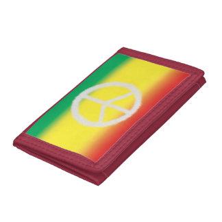 Bandera de Rasta y cartera de la paz (blanca)