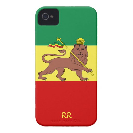 Bandera de Rastafari del caso del iPhone 4 del Case-Mate iPhone 4 Protector