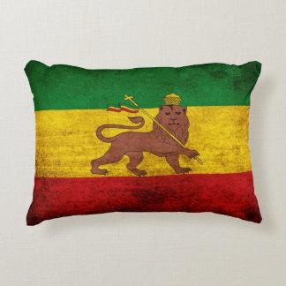 Bandera de Rastafarian del Grunge del vintage