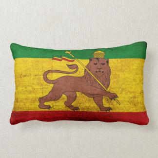 Bandera de Rastafarian del Grunge del vintage Cojín Lumbar