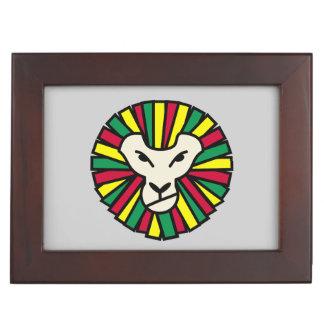 Bandera de Rastafarian del león Cajas De Recuerdos