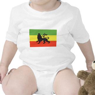 Bandera de Rastafarian Trajes De Bebé