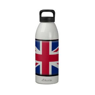 Bandera de Reino Unido Botella De Agua Reutilizable