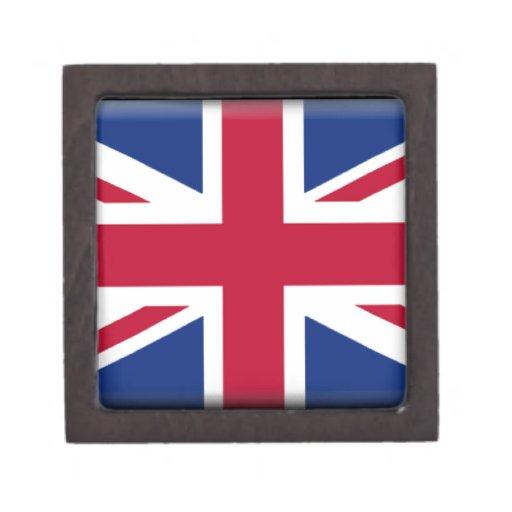Bandera de Reino Unido Cajas De Joyas De Calidad