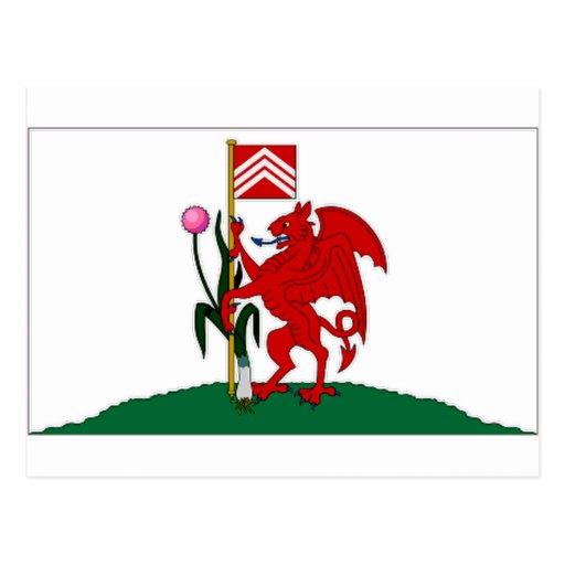 Bandera de Reino Unido Cardiff Tarjetas Postales