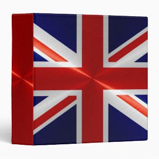 "Bandera de Reino Unido Carpeta 1 1/2"""