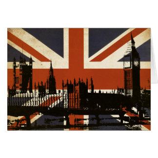 Bandera de Reino Unido con la silueta del parlamen Tarjetón