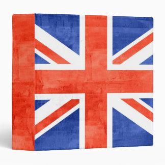 """Bandera de Reino Unido del Grunge Carpeta 1 1/2"""""""