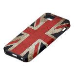 Bandera de Reino Unido del Grunge del vintage iPhone 5 Carcasa