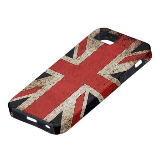 Bandera de Reino Unido del Grunge del vintage iPhone 5 Funda