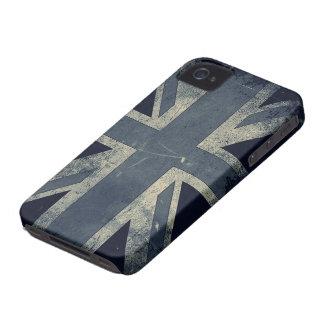 Bandera de Reino Unido del Grunge del vintage iPhone 4 Case-Mate Coberturas