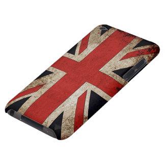 Bandera de Reino Unido del Grunge del vintage Barely There iPod Coberturas