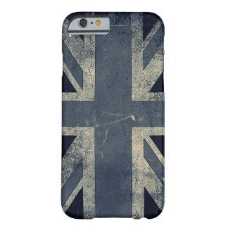 Bandera de Reino Unido del Grunge del vintage Funda Barely There iPhone 6