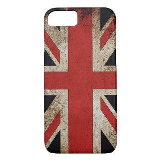 Bandera de Reino Unido del Grunge del vintage Funda iPhone 7