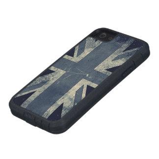 Bandera de Reino Unido del Grunge del vintage Funda Para iPhone 5 Tough Xtreme