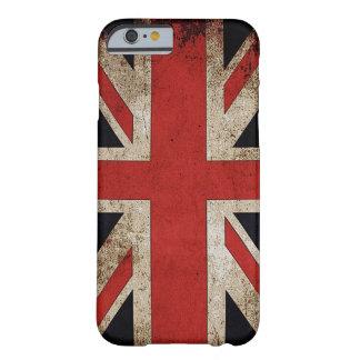 Bandera de Reino Unido del Grunge del vintage Funda Para iPhone 6 Barely There