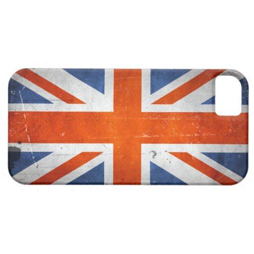 Bandera de Reino Unido del Grunge del vintage Funda Para iPhone SE/5/5s