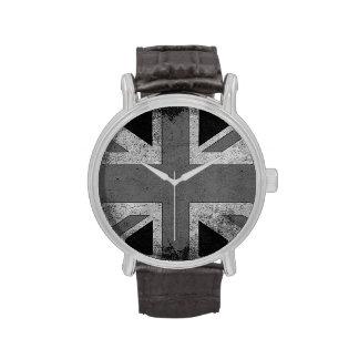 Bandera de Reino Unido del Grunge del vintage Relojes