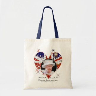 Bandera de Reino Unido del jubileo de diamante de Bolsa Tela Barata