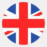 Bandera de Reino Unido Etiquetas Redondas