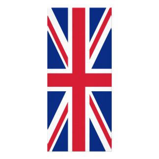 "Bandera de Reino Unido Folleto Publicitario 4"" X 9"""