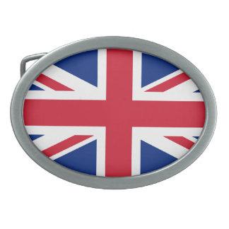 Bandera de Reino Unido Hebilla Cinturon Oval