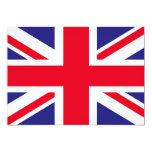 """bandera de Reino Unido Invitación 5"""" X 7"""""""