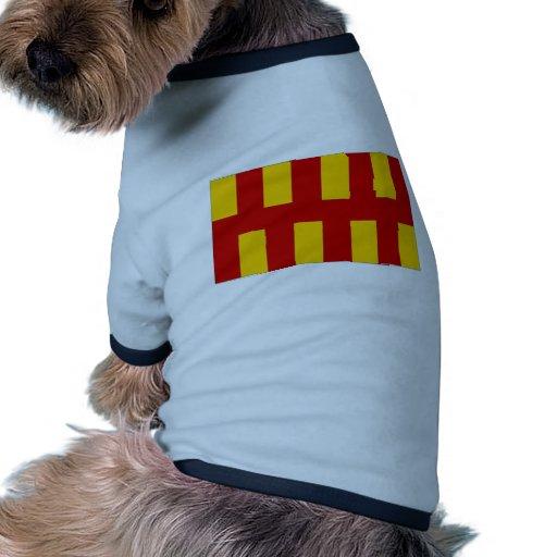 Bandera de Reino Unido Northumberland Camisetas De Perrito