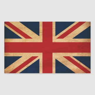 Bandera de Reino Unido Pegatina Rectangular