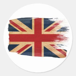 Bandera de Reino Unido Pegatina Redonda