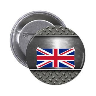 Bandera de Reino Unido Pin Redondo 5 Cm