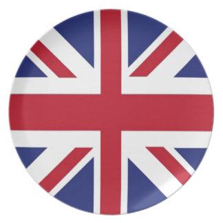 Bandera de Reino Unido Plato Para Fiesta