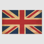Bandera de Reino Unido Rectangular Pegatinas