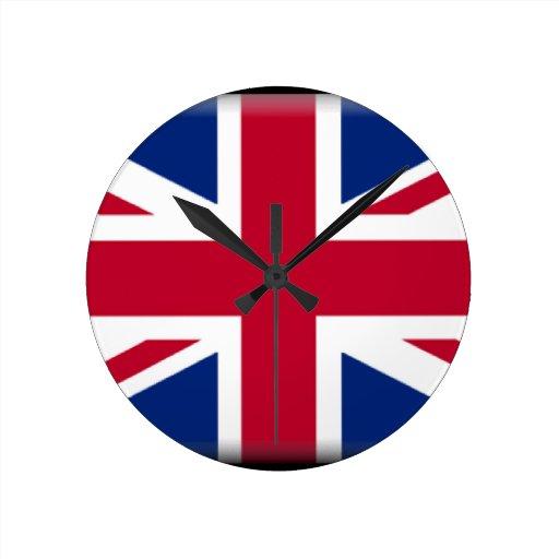 Bandera de Reino Unido Relojes De Pared