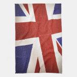 Bandera de Reino Unido - texturizada Toallas De Mano
