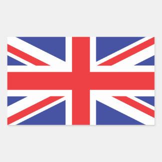 Bandera de Reino Unido /Union Jack Rectangular Pegatinas
