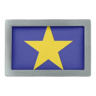 Bandera de República Democrática del Congo Hebilla Cinturon Rectangular