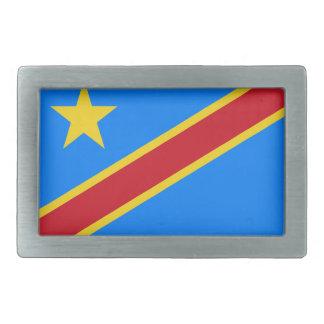 Bandera de República Democrática del Congo Hebillas De Cinturon Rectangulares