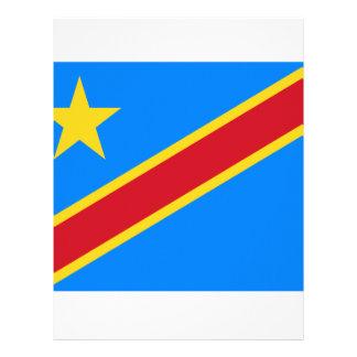 Bandera de República Democrática del Congo Membrete Personalizado