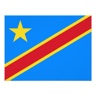 Bandera de República Democrática del Congo Fotografía