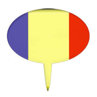 Bandera de República eo Tchad Figura De Tarta
